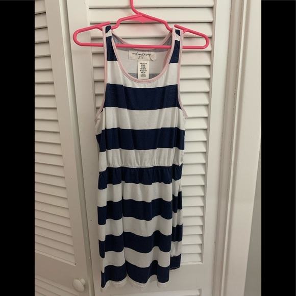 H&M Other - Girls navy and white striped dress. Size 6-8.